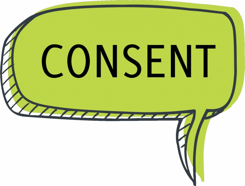 Consent speech bubble