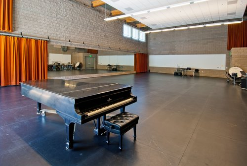 A piano in the music room