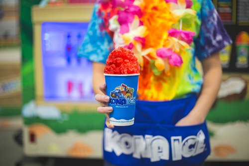 Red shaved Kona Ice