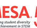 """The MESA """"Celebrating student diversity and achievement in STEM 50 years"""" logo"""