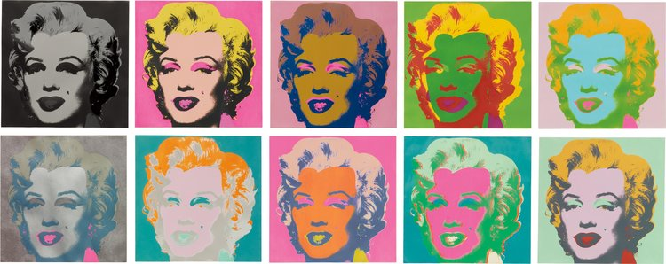 Andy Warhol artwork of Marilyn Monroe