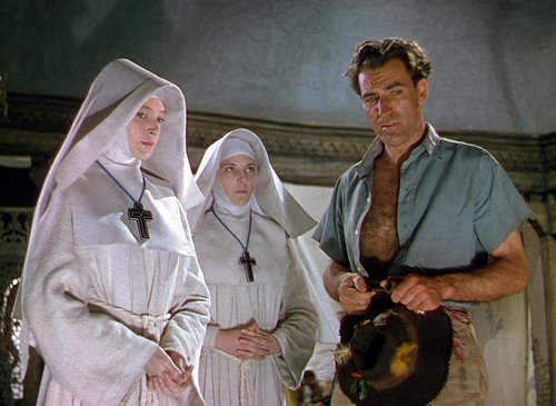 Three characters from the film