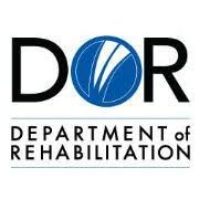 The black and blue logo of the Department of Rehabilitation (DOR)