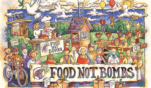Food Not Bombs graphic
