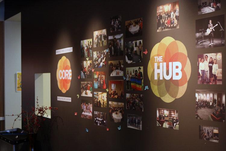 The HUB wall
