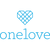 The One Love Foundation featuring the name of the foundation and a blue geometric heart