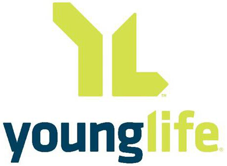 Graphic of dark blue and lime green Young Life logo
