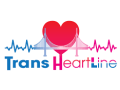 "Graphic of a heart, bridge, and an electrocardiogram line above the words ""Trans Heart Line"""