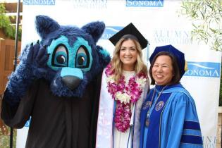 Lobo,  SSU graduate, and Judy Sakaki