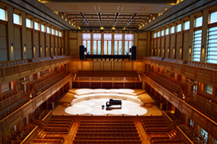 Green Music Center Weill Hall, emtpy, view from back choir balconey